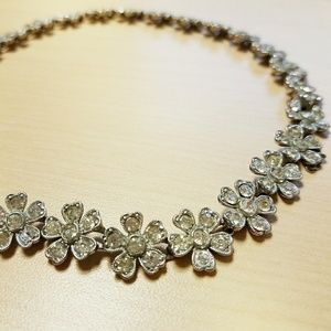 ⛏VINTAGE💋 Rhinestone Choker Necklace